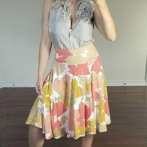 J.Crew Flower Adjustable Waist Flower Skirt S
